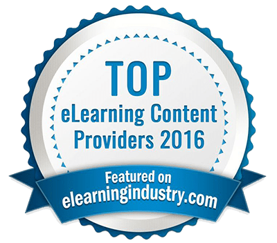 Top eLearning Content Providers 2016 badge