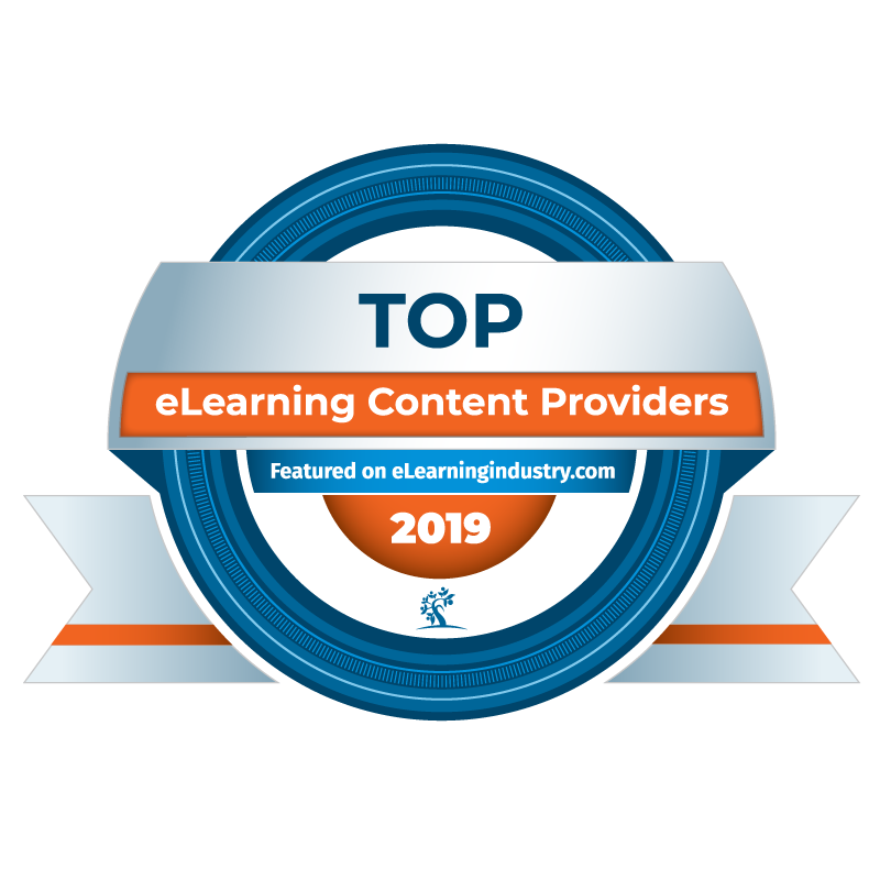 Top eLearning Content Providers 2019 badge