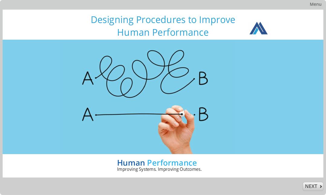Designing Procedures to Improve Human Performance